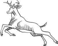 Cervos Running ilustração stock