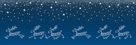 Cervos running feitos das linhas Imagem de Stock
