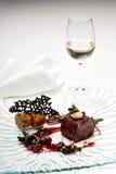 Cervos selvagens com molho da gastronomia molecular Imagem de Stock