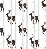 Cervos, teste padrão sem emenda do veado Foto de Stock