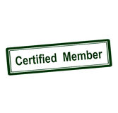 Ceryified member Royalty Free Stock Image