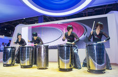 CES 2014 drummer Stock Image