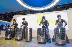 CES 2014 drummer Stock Photo