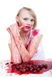 Ces cerises sont rouges photo libre de droits