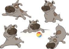 Cães. Desenhos animados. Arte de grampo Foto de Stock Royalty Free