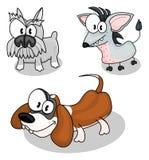 Cães dos desenhos animados Foto de Stock Royalty Free