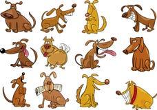 Cães dos desenhos animados ajustados Fotografia de Stock Royalty Free