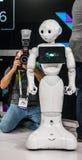 2016 CES-Promi-Roboter Stockfotos