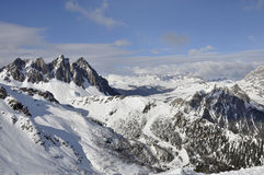 Ces ski area, dolomites Royalty Free Stock Photos