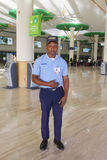 CESAC officer providing security at Punta Cana Airport Royalty Free Stock Photography
