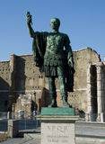 Cesaer the imperor. Sculpture of the Cesaer at Forum in Rome, Italy Stock Photo