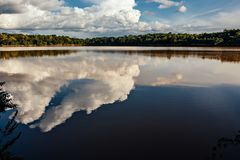 Cesamarpark in Palmas, Staat van Tocantins, Brazilië stock afbeeldingen