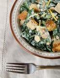 Cesar Almond Crouton Salad Fotografia de Stock
