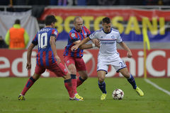 Cesar Azpilicueta in action Stock Images