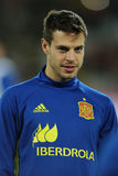 Cesar Azpilicueta. Tanco defender of the Spanish National Football Team, pictured during the friendly match between Romania and Spain, played at Cluj Arena Royalty Free Stock Photo