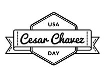 Cesar Chavez day greeting emblem Royalty Free Stock Image