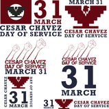 Cesar Chavez day. Cesar Chavez, day of service. Vector illustration Stock Photography