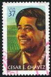 Cesar Chavez. UNITED STATES - CIRCA 2003: stamp printed by United states, shows Cesar E. Chavez, circa 2003 Stock Photo