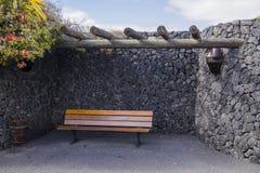 Cesar Marique Foundation, Lanzarote. Bench in Cesar Marique Foundation in Tahiche, Lanzarote, Canary Islands. Spain Stock Photography