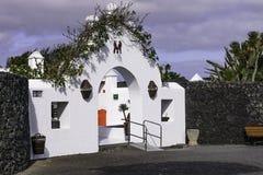 Cesar Marique Foundation, Lanzarote. Entrance to the Cesar Marique Foundation in Tahiche, Lanzarote, Canary Islands. Spain Royalty Free Stock Image