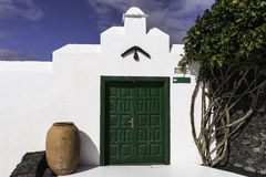 Cesar Marique Foundation, Lanzarote. Gate in Cesar Marique Foundation in Tahiche, Lanzarote, Canary Islands. Spain Stock Images