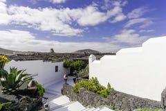 Cesar Marique Foundation, Lanzarote. Gate in Cesar Marique Foundation in Tahiche, Lanzarote, Canary Islands. Spain Stock Image