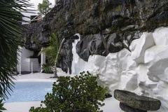 Cesar Marique Foundation, Lanzarote. Pool in Cesar Marique Foundation in Tahiche, Lanzarote, Canary Islands. Spain Royalty Free Stock Photo