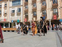 THE CESAR OCTAVIO AUGUSTO, HISTORICAL RECREATION. THE CESAR OCTAVIO AUGUSTO ENTERING THE MAIN SQUARE OF ASTORGA, HISTORICAL RECREATION IN THE ANNUAL PARTY OF Stock Images