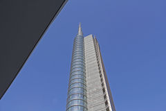 Cesar pelli tower close up. Skyline,milan,building the new milan skyline Stock Images