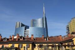 Cesar Pelli tower in Milan Stock Photography