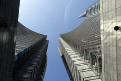 Cesar Pelli tower in Milan Royalty Free Stock Images