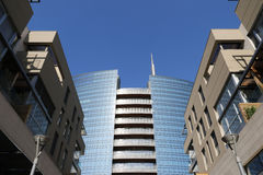 Cesar Pelli tower in Milan Stock Photos