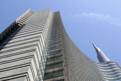 Cesar Pelli tower in Milan Royalty Free Stock Images