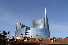 Cesar pelli tower in Milan Stock Photos