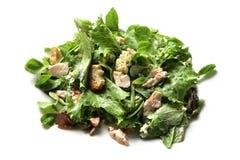 Cesar salad. Rich creamy, healthy chicken caesar or cesar salad Royalty Free Stock Photography