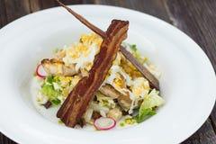 Cesar Salad. Delicious cesar salad on plate Stock Photos