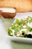 Cesar salad on green napkin. Closeup of Cesar salad on green napkin Royalty Free Stock Images