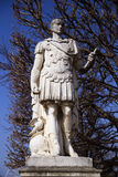 Cesar statue in Paris. Old roman imperator Cesar statue in Paris, France Royalty Free Stock Photography