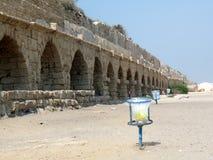 Cesarea渡槽,以色列 免版税图库摄影
