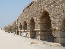 Cesarea Aqueduct, Israël Photos libres de droits