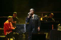 Cesaria Evora on stage Royalty Free Stock Image