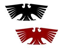 Cesarski heraldyczny orzeł z rozpostartymi skrzydłami Fotografia Royalty Free