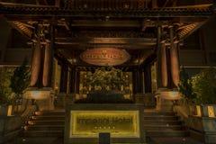Cesarski hotel w odcieniu obraz stock