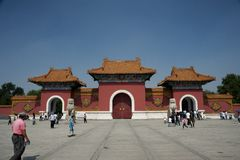 cesarski północy parka Shenyang grobowiec fotografia stock