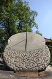 Cesarski szkoła wyższa kamienia Sundial Pekin Obrazy Royalty Free