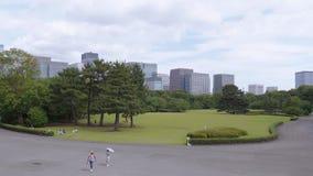 19, 2018 cesarskiego pałac Wschodni ogródy w Tokio, TOKIO JAPONIA, CZERWIEC -, - zbiory