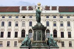 Cesarz Franz Ja statua Zdjęcia Royalty Free