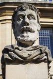 Cesarz głowy rzeźba w Oxford Obraz Stock
