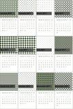 Cesarz i mallard barwiliśmy geometrycznego wzoru kalendarz 2016 Fotografia Royalty Free