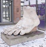 Cesarza Constantine ` s stopa - kopia utrzymany antyczny wor Fotografia Royalty Free